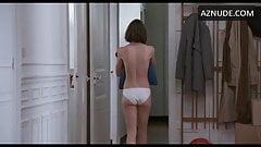 S. Martin in 2017 French film in white satin bikini panties