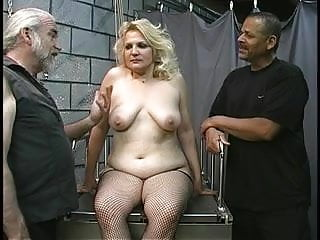 Fetish mature bbw Mature bbw blonde gets tortured in dungeon by two old men