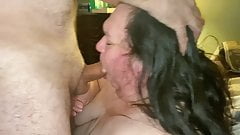 Wife gets fucked and cum on her face