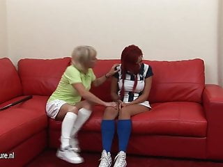 Lesbian coach jizz - Hot pupil gets hard lesson from her mature lesbian coach