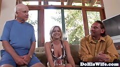 Cuckolding eurobabe gets her pussy fucked