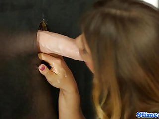 To strip off external covering Bukkakke covered babe strips at gloryhole