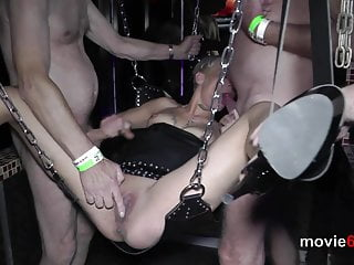 Tantus cock sling Gangbang in a love sling with short hair blondie lola devil