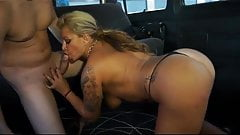 Sexy Colombian MILF fucking in the taxi