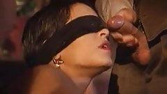 Dalila blindfolded facial