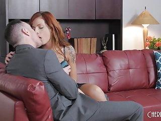 Scarlett pornstar redhead Tattooed redhead scarlett gets fucked in her shaved pussy