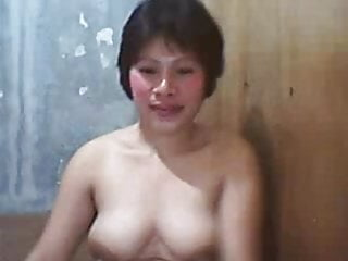 Filipina boobs - Filipina mature lady showing off her big boobs on cam
