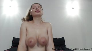 This busty girl has some nice large areolas