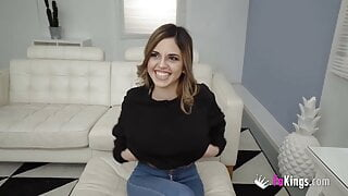 SUPER BUSTY – Alice wants to try her first DP!!!