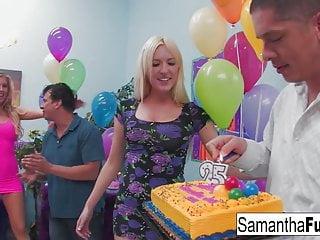 Wild crazy sex partys Samantha saint celebrates her birthday with a wild crazy