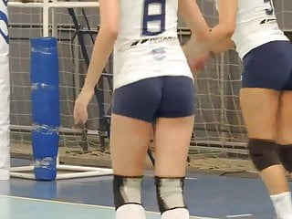 Close up volleyball ass Playing volleyball with a tight shorts - part 1 of 2