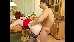 Kira Red Fucked fucked on the table - restored