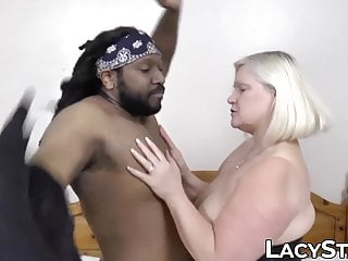 Balls deep in big tits - Classy gilf with big tits pounded balls deep by black dick