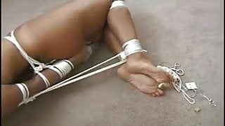 Robbed and left nude and hogtied