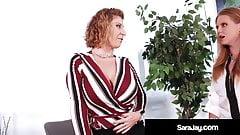 Slutty Boss Sara Jay Gets Plump Pussy Eaten By Dane Arcadia!
