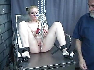 Amateur milf sex clips - Bdsm loving young slut gets her pussy clipped and filled with a hook