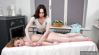 Klava Gorbefog's first virgin massage