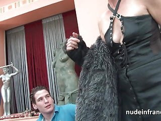 Mature ladies with young men French mature banged and jizz in 3way by a old and young men