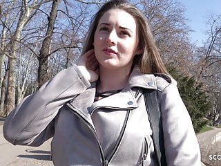 Video cash tits German scout - curvy schoolgirl pickup and fuck for cash