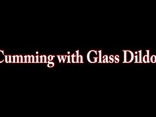 Big busty girls glasses - Busty maggie green cums from big glass dildo