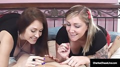Cock Sucking Cougar Charlee Chase & Taylor Raz Love A Dick!