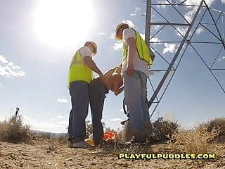 Outdoor mature sex Banging my coworkers in the desert