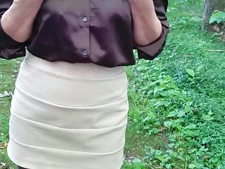 How are pantyhose made - Submissive wife made to wet herself