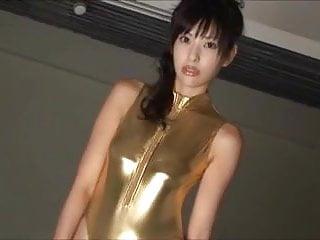 Teen shiny Softcore asian shiny leotard tease