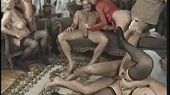 Anal orgy with hot older women who love it when young guys fuck them
