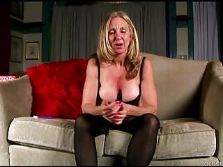 Saucy lingerie for mature ladies - Saucy old spunker in stockings loves to fuck her juicy pussy