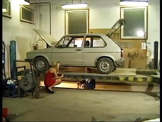 Granny anal in garage German blonde fucks in garage by cezar73