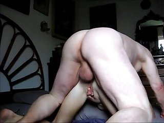 Anal ball huge Grandpa unloads his huge balls in grandmas ass