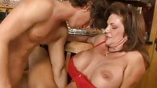 Mature seduces a young salesman