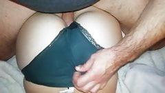 Green skirt ass