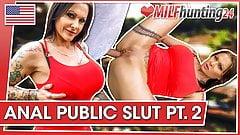 Milf Hunter cums on her ass after anal! milfhunting24.com