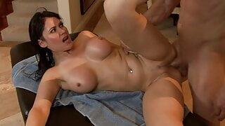 massage of MILF turns into hard sex