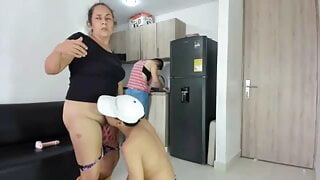 StepMom and Stepson fucking in front of Stepdaughter