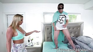 Cute MILF doggystyle pounded by stepson