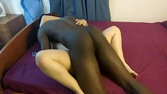 White Wife Cumming on my BBC while husband watch