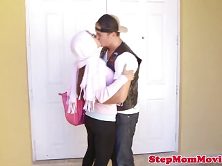 Son and stepmom sex videos - Muslim stepmom licking teen during doggystyle