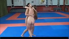 athletic lesbians in hot erotic wrestling