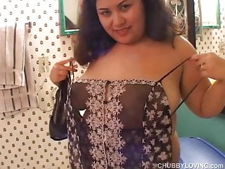 Busty asian tit fucking Busty asian bbw thinks of you as she fucks her juicy pussy