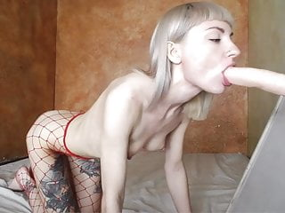 Annette schwarz deep throat dildo - Very very deep throat dildo-blowjob