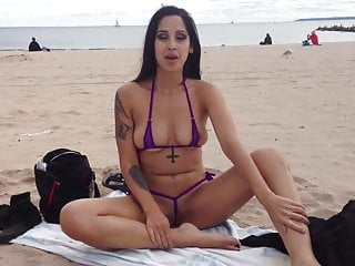 Non slip adhesive strips for automobile Elena shows off her pussy on non-nude beach