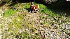 Perv watching German babe sunbathing