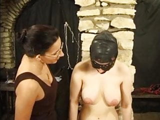 Eyelid naked gibbet torture - Masked slut gets tortured by her mistress
