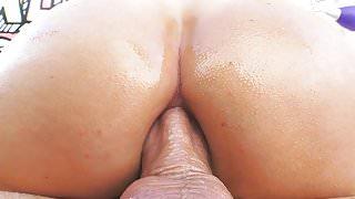 Nina Elle enjoys oily anal fuck