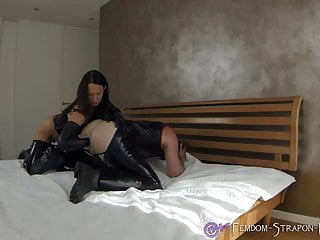 Latex cumshots Mistress angelina anally fists man until cumshot