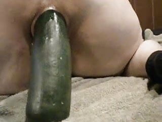 Pussy stuffing with objects - Biggest object ever stuffed up my wifes cunt