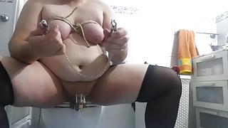 anal big dildo, bondage tits and torture